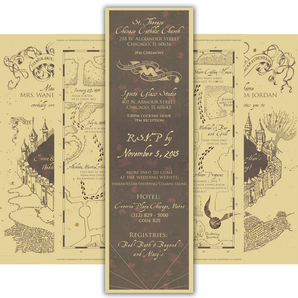 Harry Potter Wedding Invitation Card Invitation Design