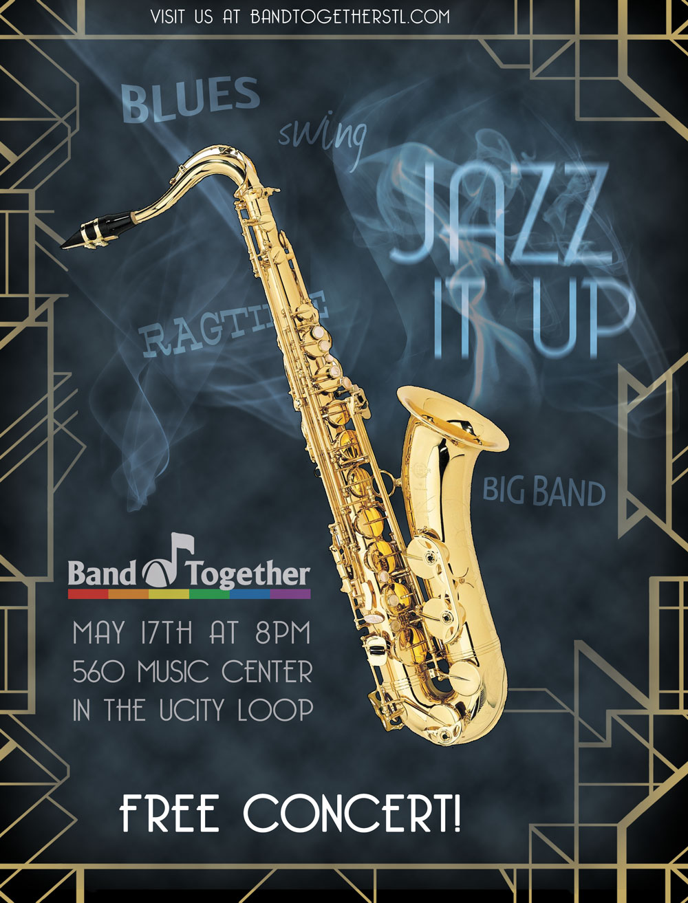 Jazz Concert Program Flyer Graphic Design Projects